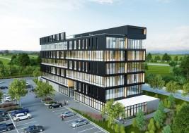 Construite à l'angle du boulevard Casavant et de la rue Johnson Est, la tour à bureaux de prestige sera construite selon des normes strictes de développement durable et vise la certification LEED.